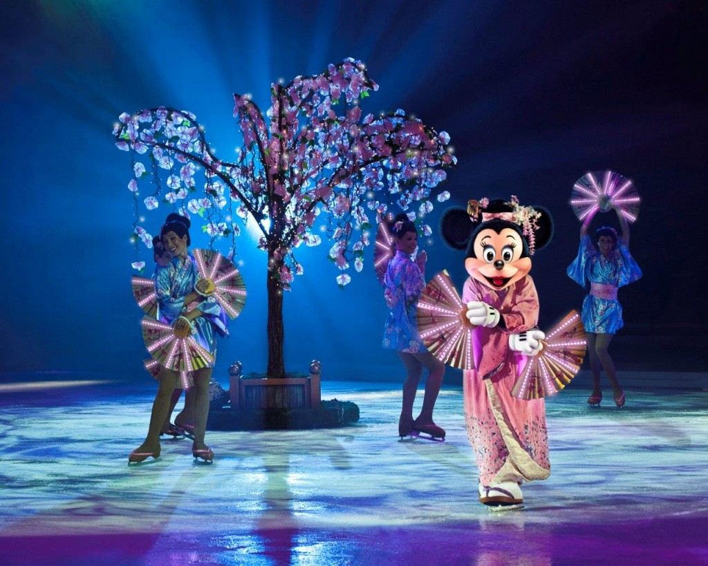 Minnie Mouse está a cargo del festival japonés Sakura. Foto: Disney On Ice