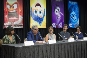 Beverly Hills, CA - June 7 - INSIDE OUT Press Conference  with Mindy Kaling, Lewis Black, Amy Poehler, Bill Hader and Phyllis Smith moderated by Scott Mantz.