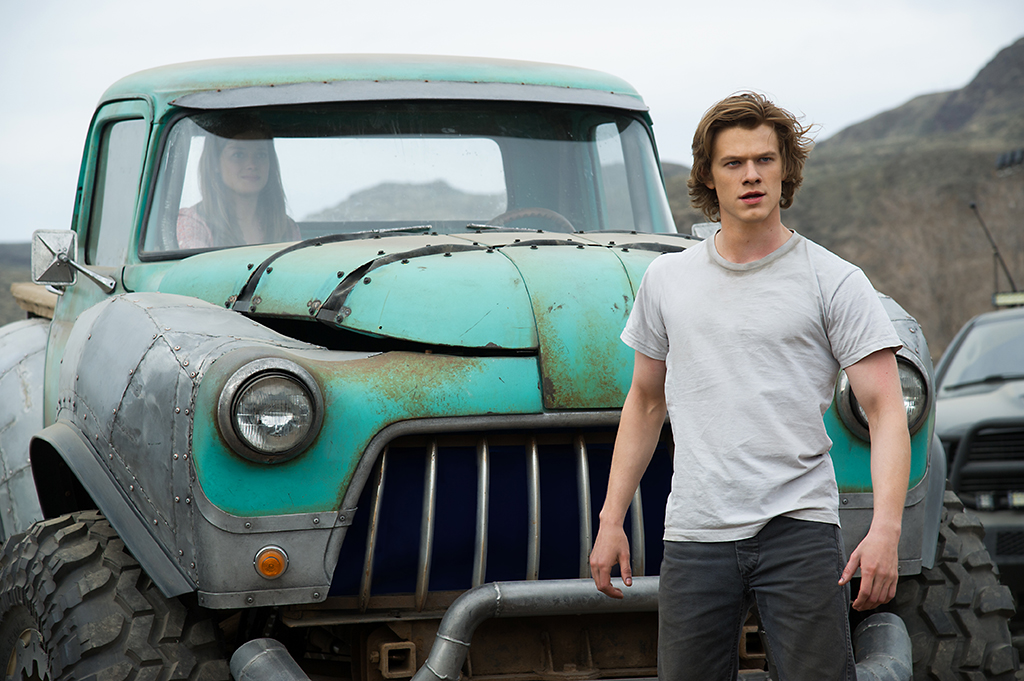 Lucas Till plays Tripp and Jane Levy plays Meredith in Monster Trucks from Paramount Pictures.